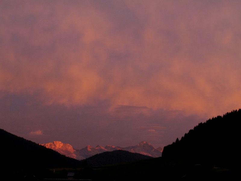 Couchant sur les montagnes de Villard