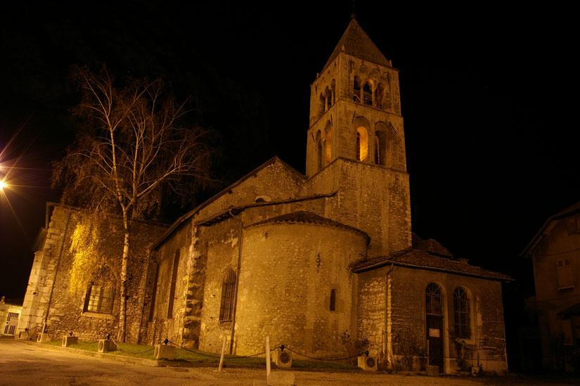 Eglise de Sassenage de nuit