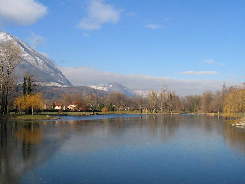 parc lac ovalie gelé