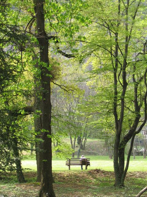 banc promeneur parc de la Poya Fontaine