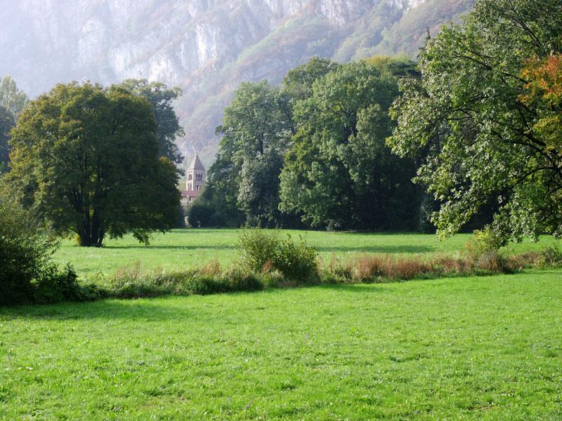 Photo de Sassenage prise du parc du château