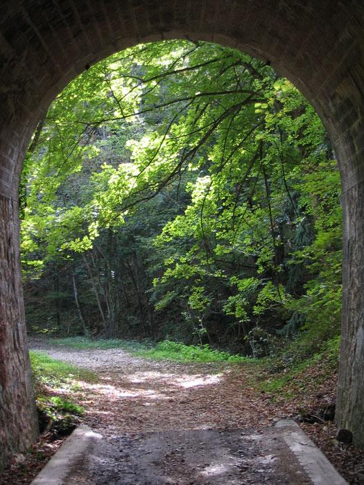 voie du tram - tunnel des Chatelaines