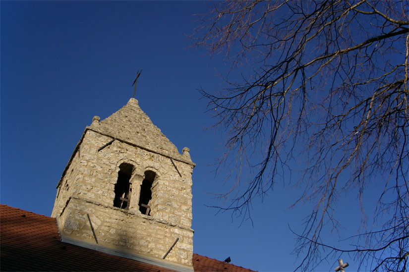 clocher église Engins