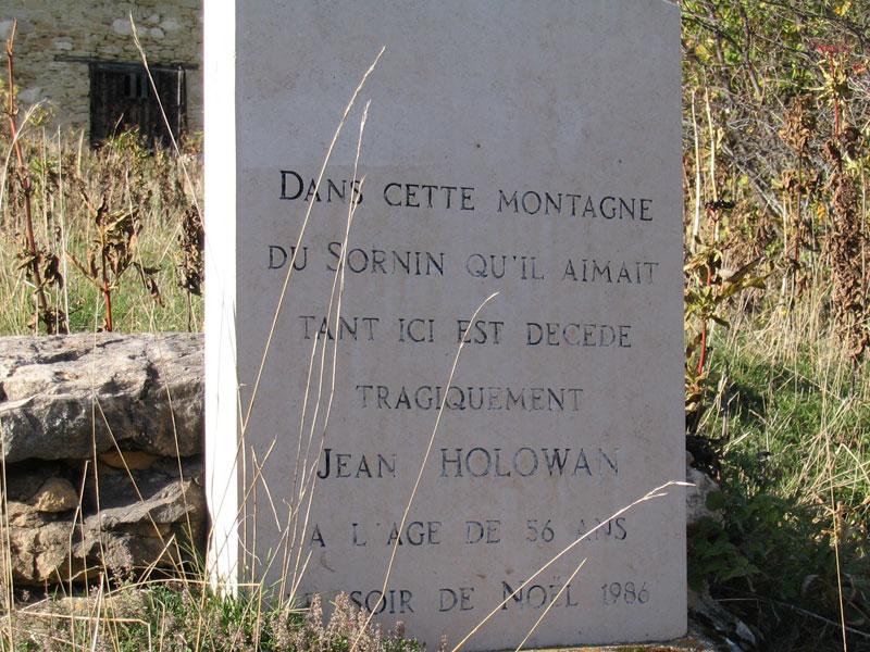 plaque commémorative Jean Holowan